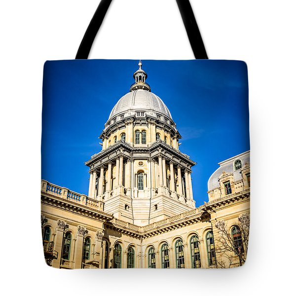 Illinois State Capitol in Springfield Illinois Tote Bag by Paul Velgos