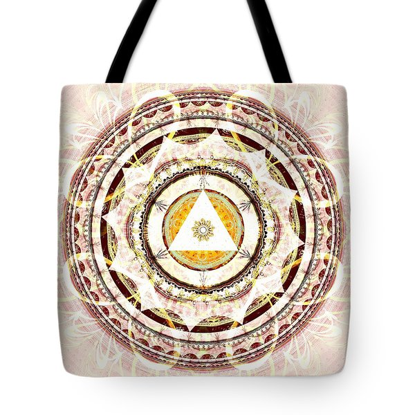 Illumination Circle Tote Bag by Anastasiya Malakhova