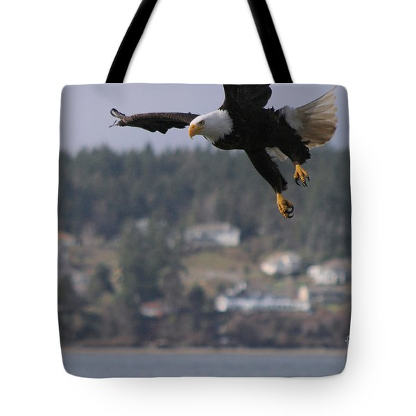 I'm Coming In For A Landing Tote Bag by Kym Backland
