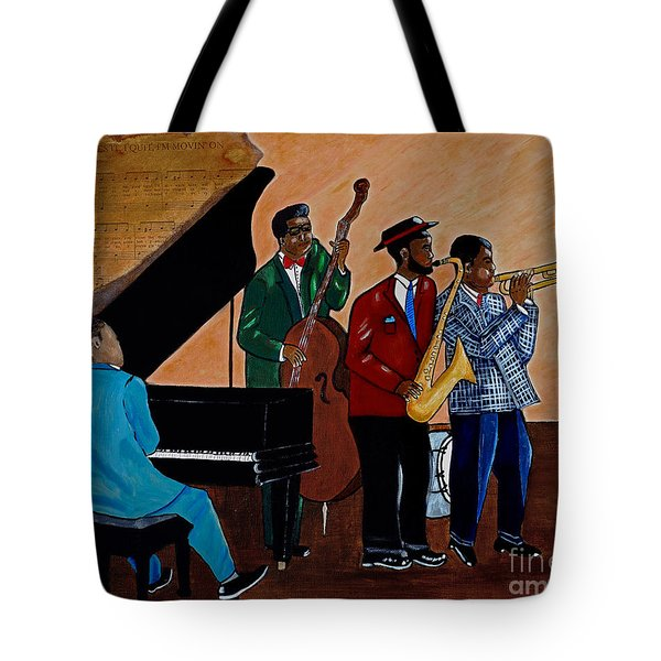 Im Moving On Tote Bag by Barbara McMahon