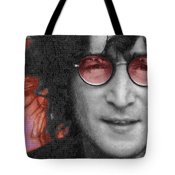 Imagine John Lennon Again Tote Bag by Tony Rubino