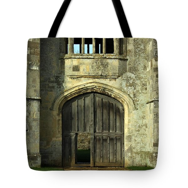 Imposing Front Door Of Titchfield Abbey Tote Bag by Terri  Waters