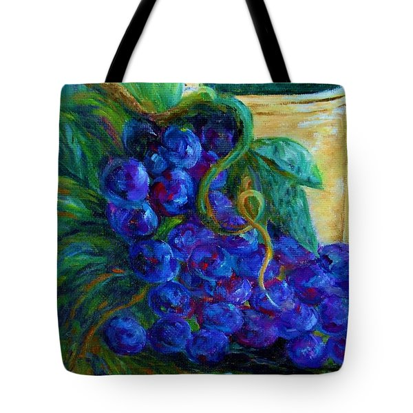 Impressionist Grapes and Wine Tote Bag by Eloise Schneider