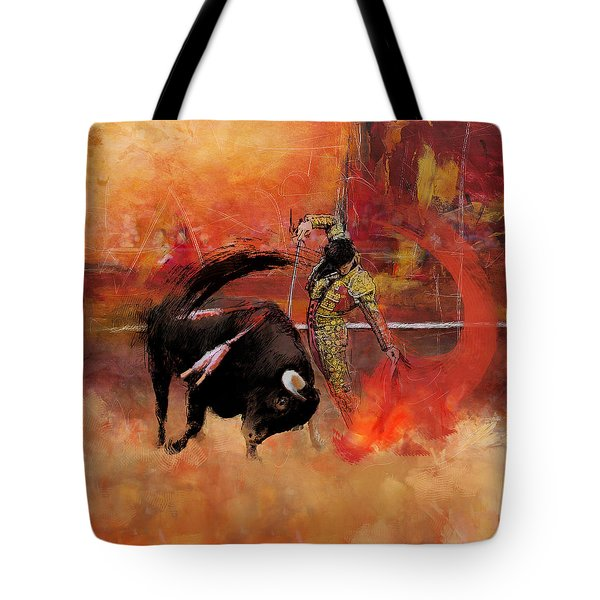 Impressionistic Bullfighting Tote Bag by Corporate Art Task Force