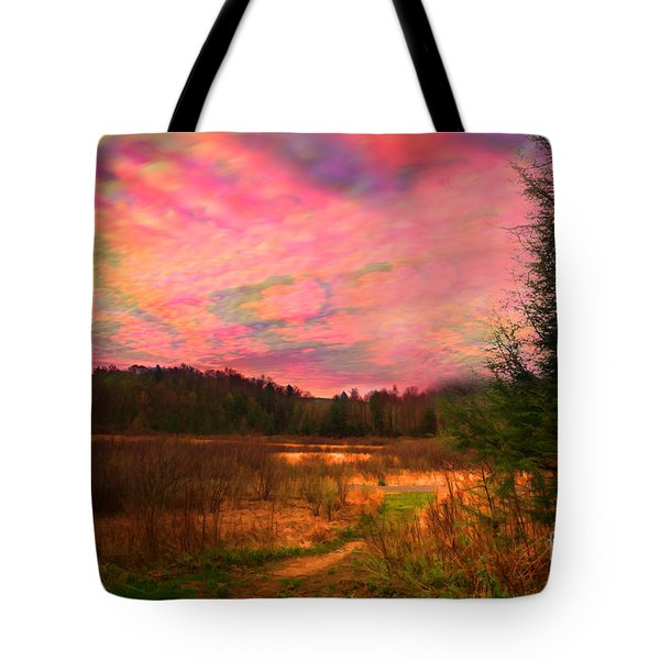 Impressionistic Morning View Of West Virginia Botanic Garden Tote Bag by Dan Friend