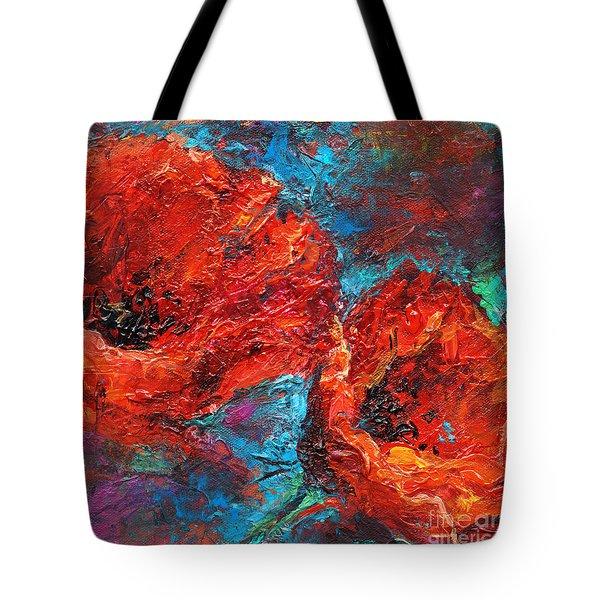 Impressionistic Red Poppies Tote Bag by Svetlana Novikova