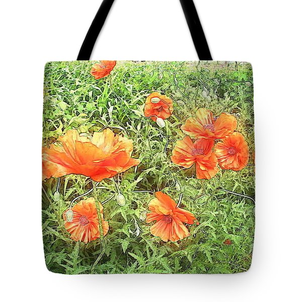 In Flanders Fields The Poppies Grow Tote Bag by PainterArtist FIN