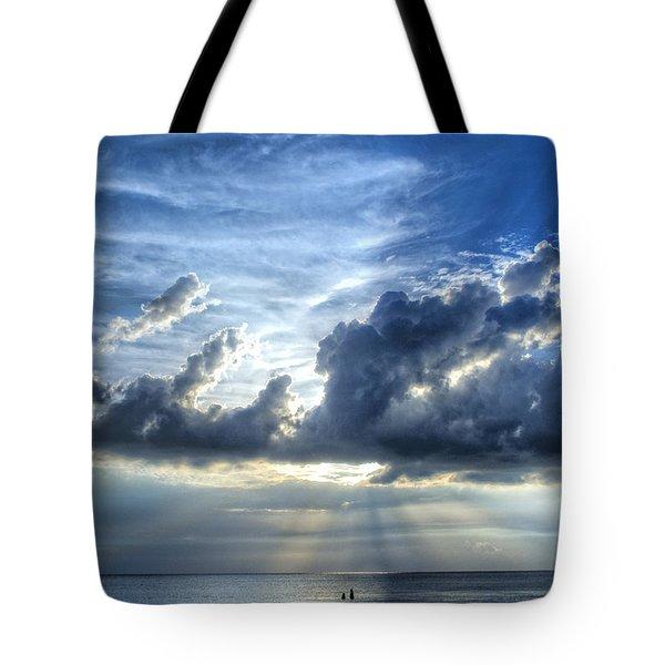 In Heaven's Light - Beach Ocean Art by Sharon Cummings Tote Bag by Sharon Cummings