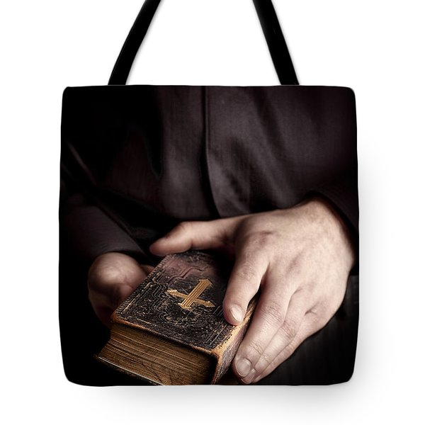 In His Hands Tote Bag by Margie Hurwich
