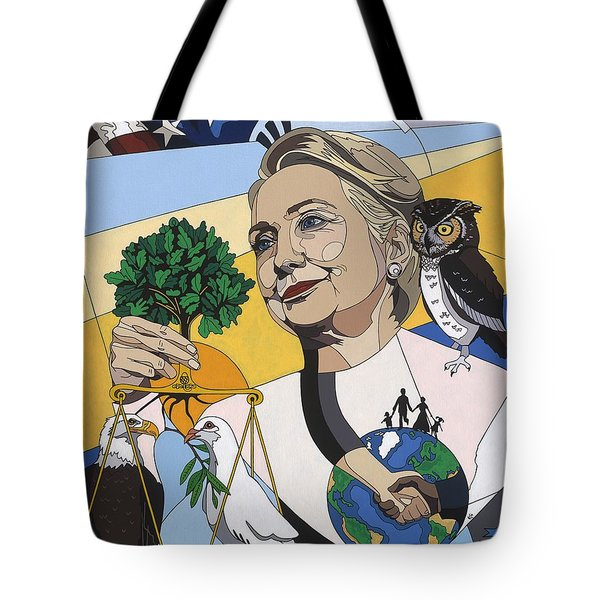 In Honor Of Hillary Clinton Tote Bag by Konni Jensen
