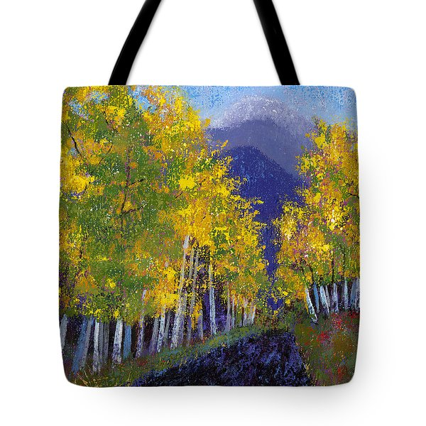In Love With Fall River Road Tote Bag by Margaret Bobb