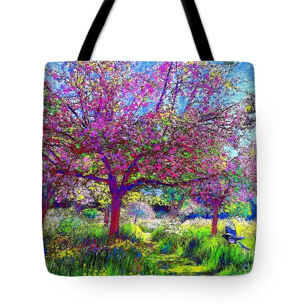 In Love with Spring Tote Bag by Jane Small