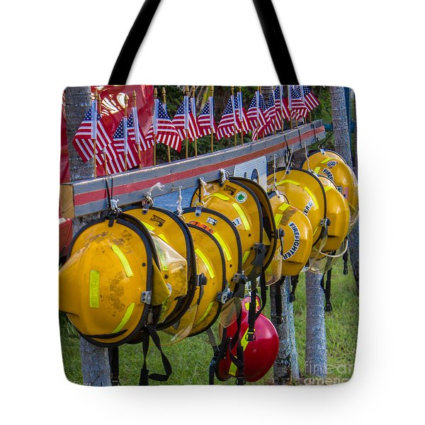In Memory of 19 Brave Firefighters  Tote Bag by Rene Triay Photography