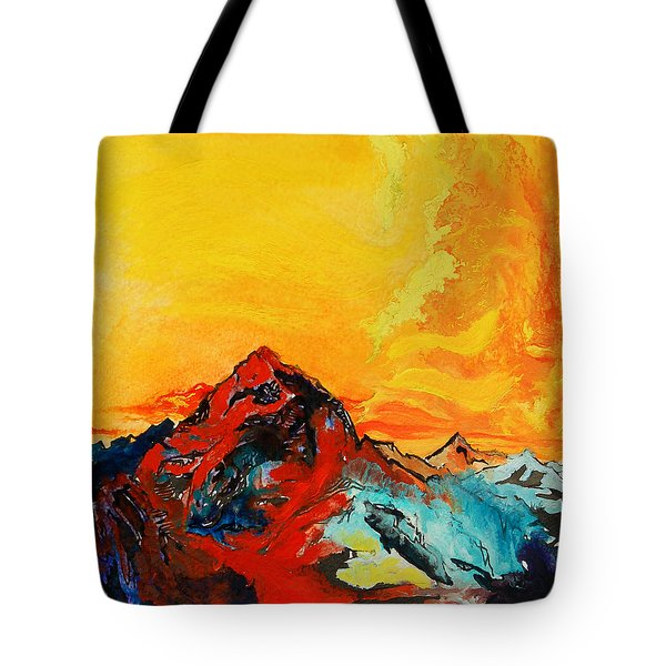 In Mountains Tote Bag by Joseph Demaree