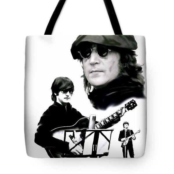 In My Life  John Lennon Tote Bag by Iconic Images Art Gallery David Pucciarelli