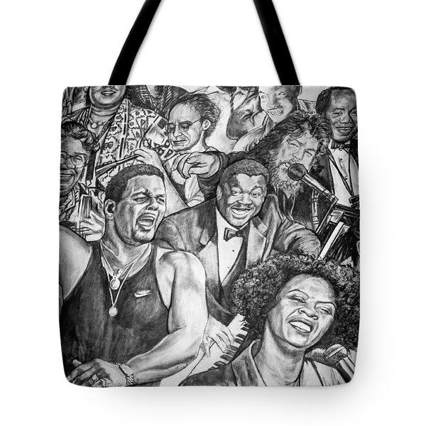 In Praise Of Jazz Tote Bag by Steve Harrington
