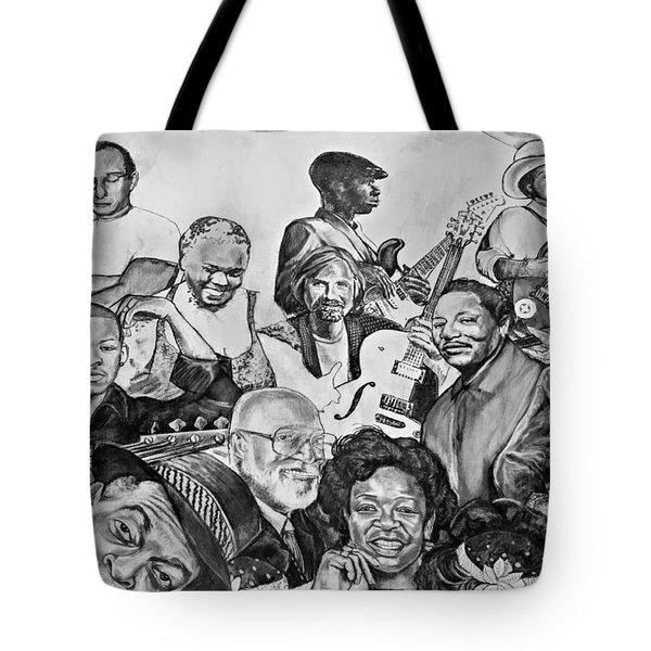 In Praise of Jazz V Tote Bag by Steve Harrington