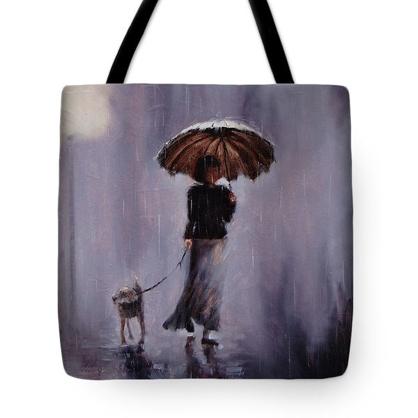In Rain Or Shine Tote Bag by Laura Lee Zanghetti