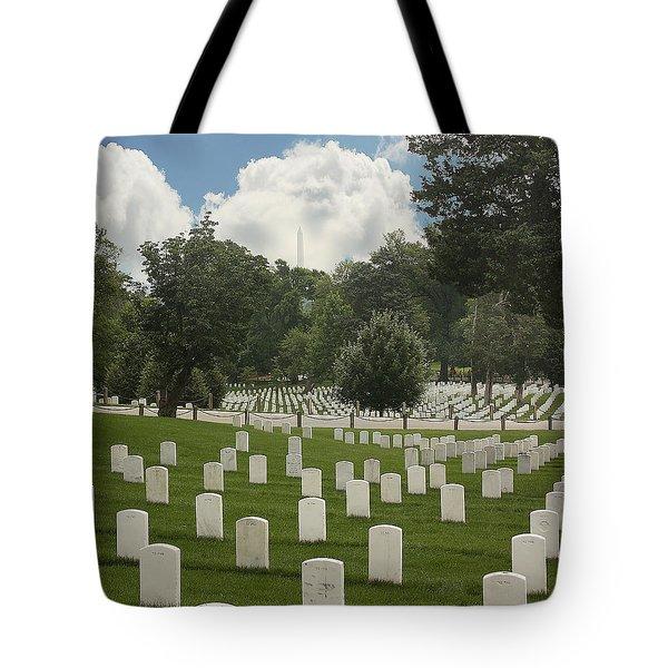 In Rememberance-arlington Tote Bag by Kim Hojnacki