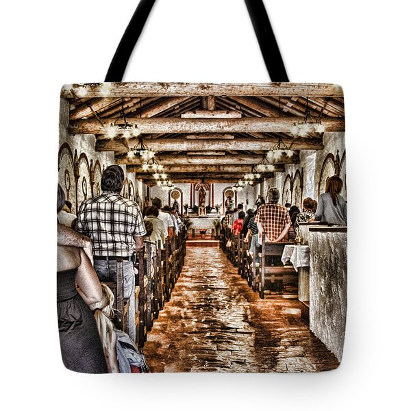 In Service Mission San Antonio De Pala By Diana Sainz Tote Bag by Diana Sainz