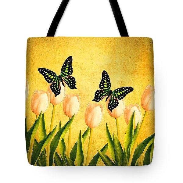In the Butterfly Garden Tote Bag by Edward Fielding