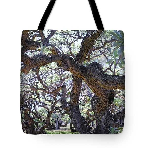 In The Depth Of Enchanting Forest II Tote Bag by Jenny Rainbow