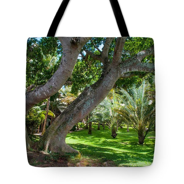 In The Garden. Mauritius Tote Bag by Jenny Rainbow