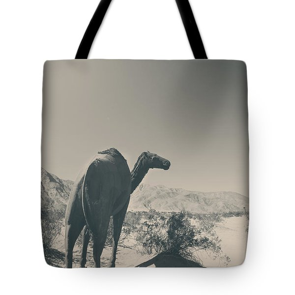 In The Hot Desert Sun Tote Bag by Laurie Search