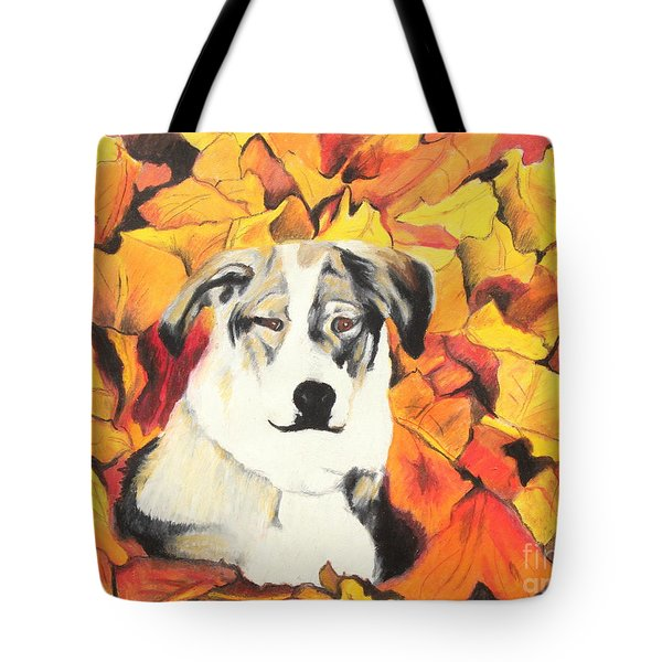 In  the leaves Tote Bag by Jeanne Fischer