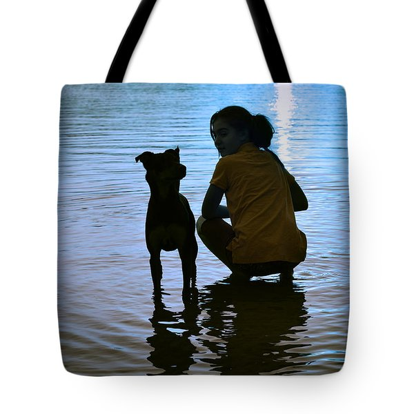 In The Moonlight Tote Bag by Laura Fasulo