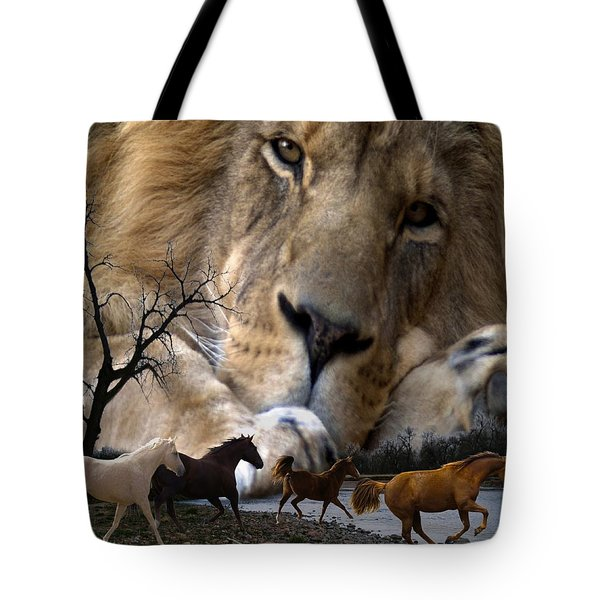 In The Presence Of Elohim Tote Bag by Bill Stephens