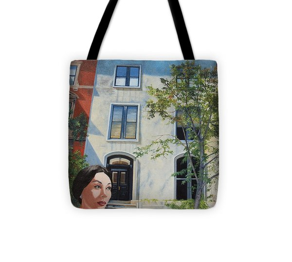 In The Way Of Spindrift Jan Bryant Bartell Tote Bag by Barbara Barber
