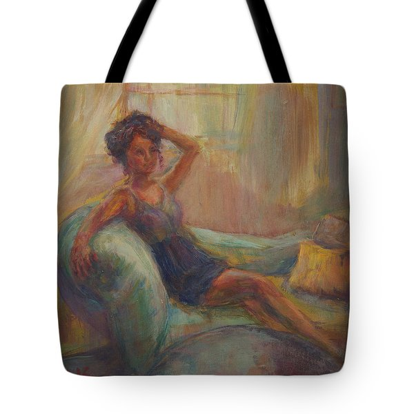 In The Window Light Tote Bag by Quin Sweetman