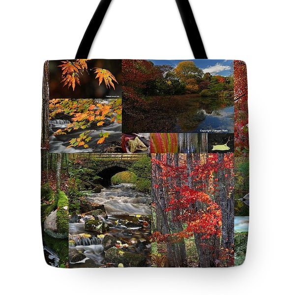 Incredible New England Fall Foliage Photography Tote Bag by Juergen Roth