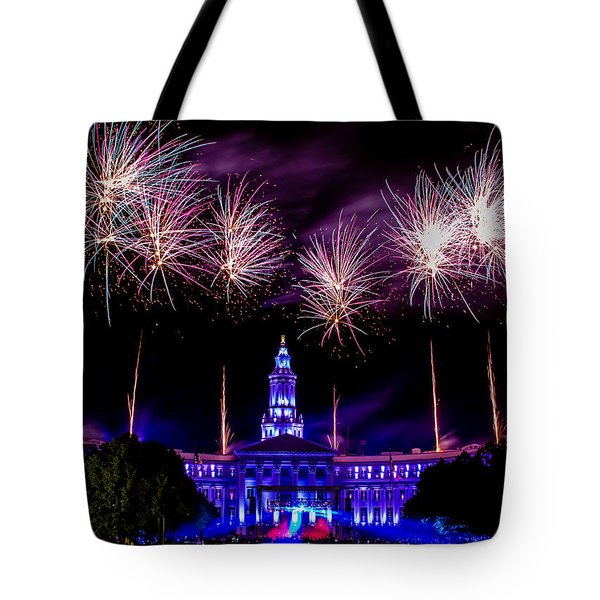 Independence Eve In Denver Colorado Tote Bag by Teri Virbickis