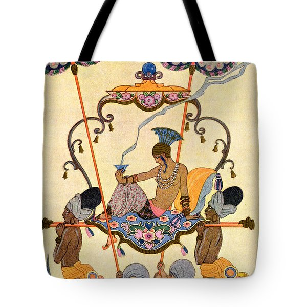 India Tote Bag by Georges Barbier