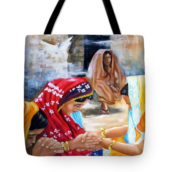 India Rising -- The Found Tote Bag by Carol Allen Anfinsen