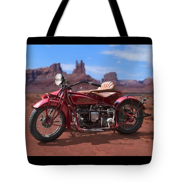Indian 4 Sidecar 2 Tote Bag by Mike McGlothlen