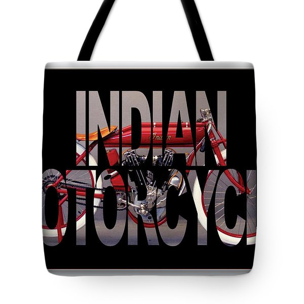 Indian Board Track Racer Motorcycle Tote Bag by Marvin Blaine