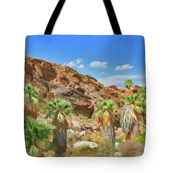 Indian Canyons View In Palm Springs Tote Bag by Ben and Raisa Gertsberg