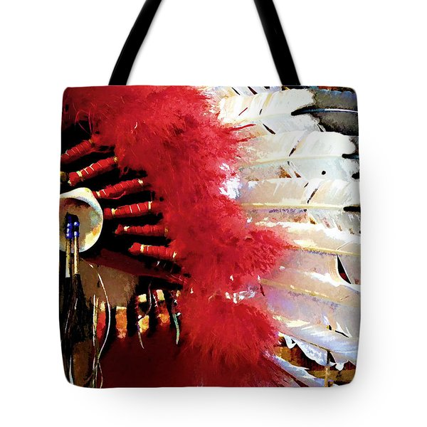 Indian Headdress Tote Bag by Julie Palencia