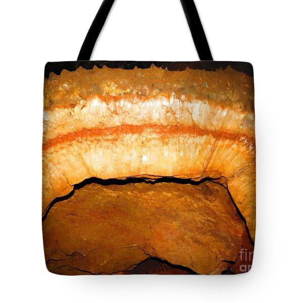 Indian Headdress. Sitting Bull Crystal Caverns Tote Bag by Ausra Huntington nee Paulauskaite