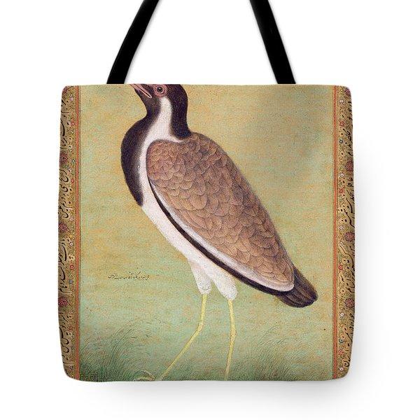 Indian Lapwing Tote Bag by Mansur