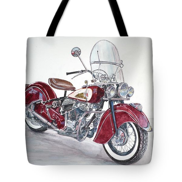 Indian Motorcycle Tote Bag by Anthony Butera