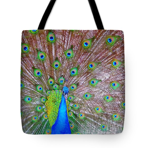 Indian Peacock Tote Bag by Deena Stoddard
