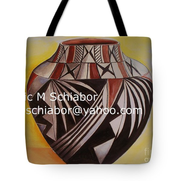Indian Pottery Tote Bag by Eric  Schiabor