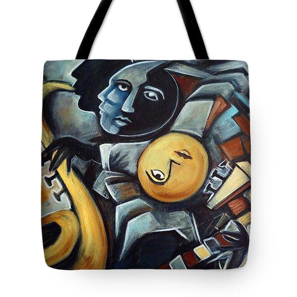 Indigo Blues Tote Bag by Valerie Vescovi