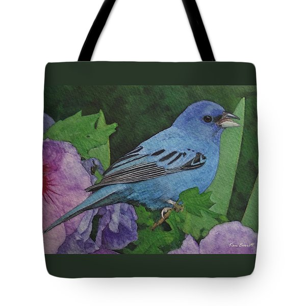 Indigo Bunting No 2 Tote Bag by Ken Everett