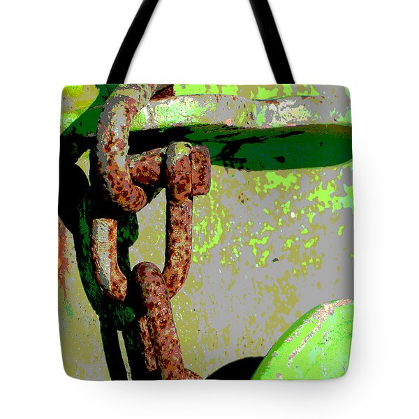 Industrial Chain Pop Art Tote Bag by Adspice Studio