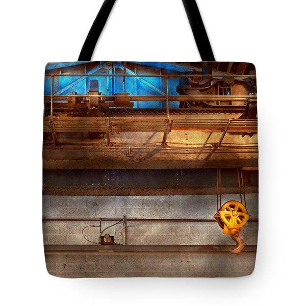 Industrial - The Gantry Crane Tote Bag by Mike Savad
